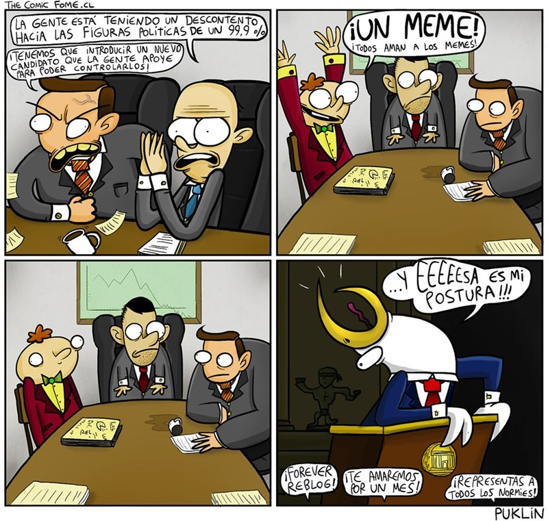 un meme mejora la vida politica