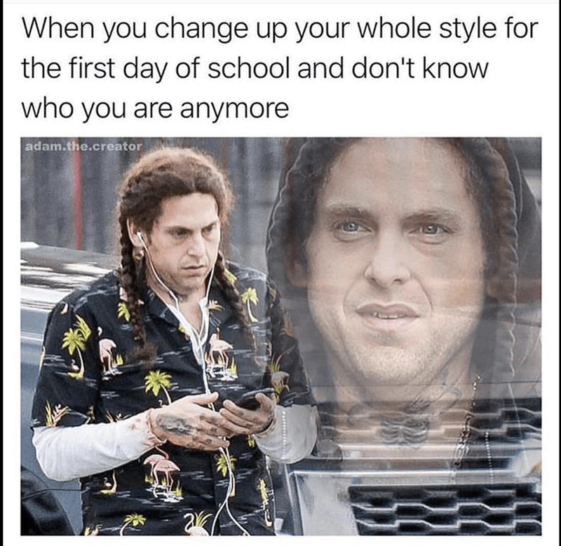 Indian Jonah Hill in meme about confused self identity