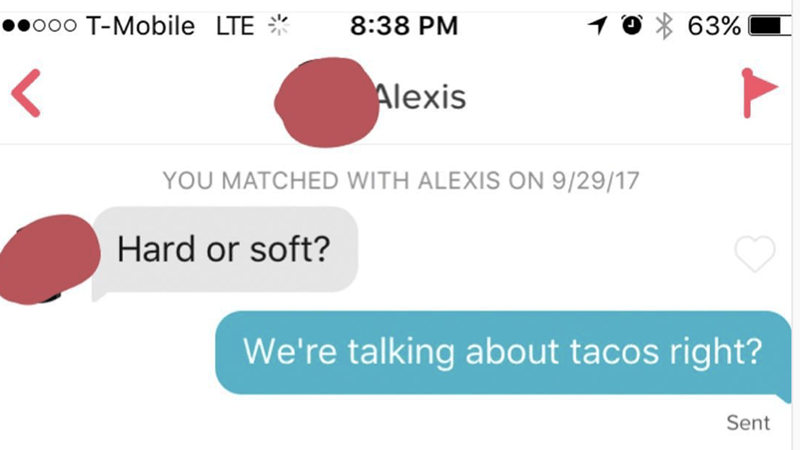 DM about hard or soft tacos
