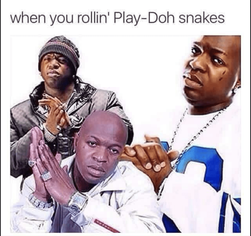 Sunday meme - Smile - when you rollin' Play-Doh snakes