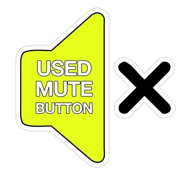 trophy for using mute button at work