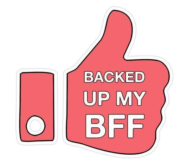 backed up my bff is a total trophy at work.