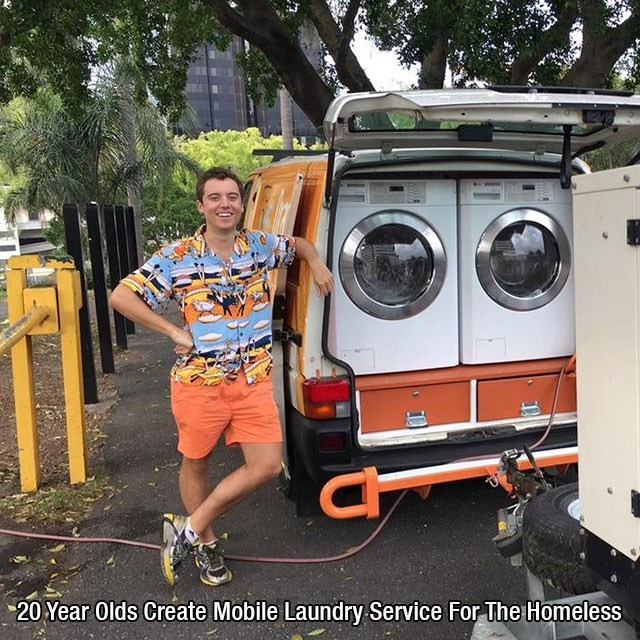 Mobile laundry service for the homeless