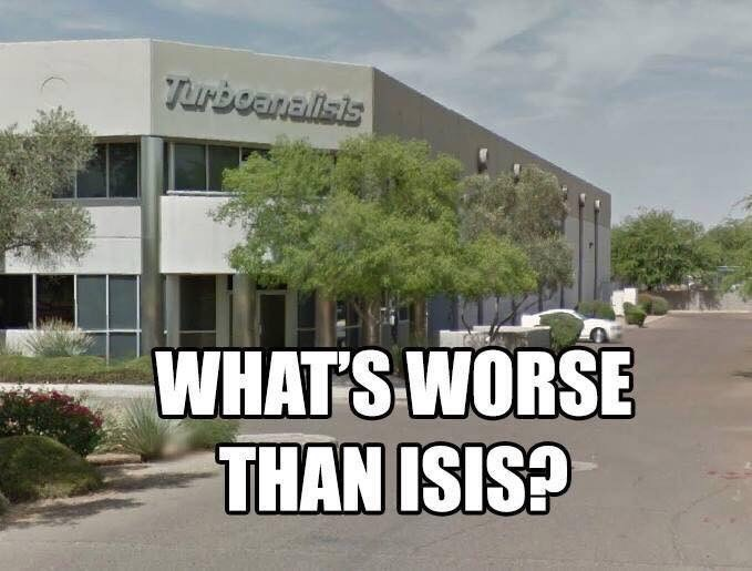 meme about turboanalisis being worse than ISIS