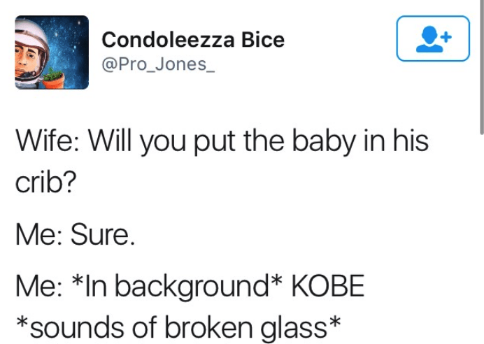 dark-humored Tweets wife asks husband to put their baby in the crib