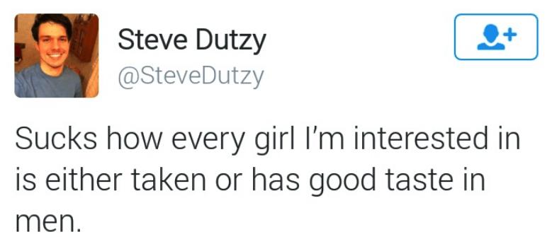 dark-humored Tweets about girls being taken