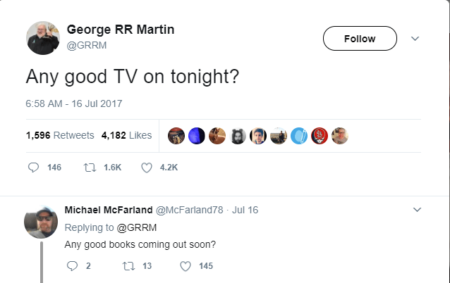 dark-humored Tweets asking if they're is any good tv scheduled