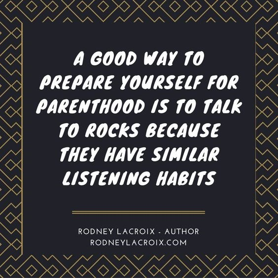 Font - A GOOD WAY 10 PREPARE YOURSELF FOR PARENTHOOD IS 10 TALK 10 ROCKS BECAUSE THEY HAVE SIMILAR LISTENING HABITS RODNEY LACROIX AUTHOR RODNEYLACROIX.COM