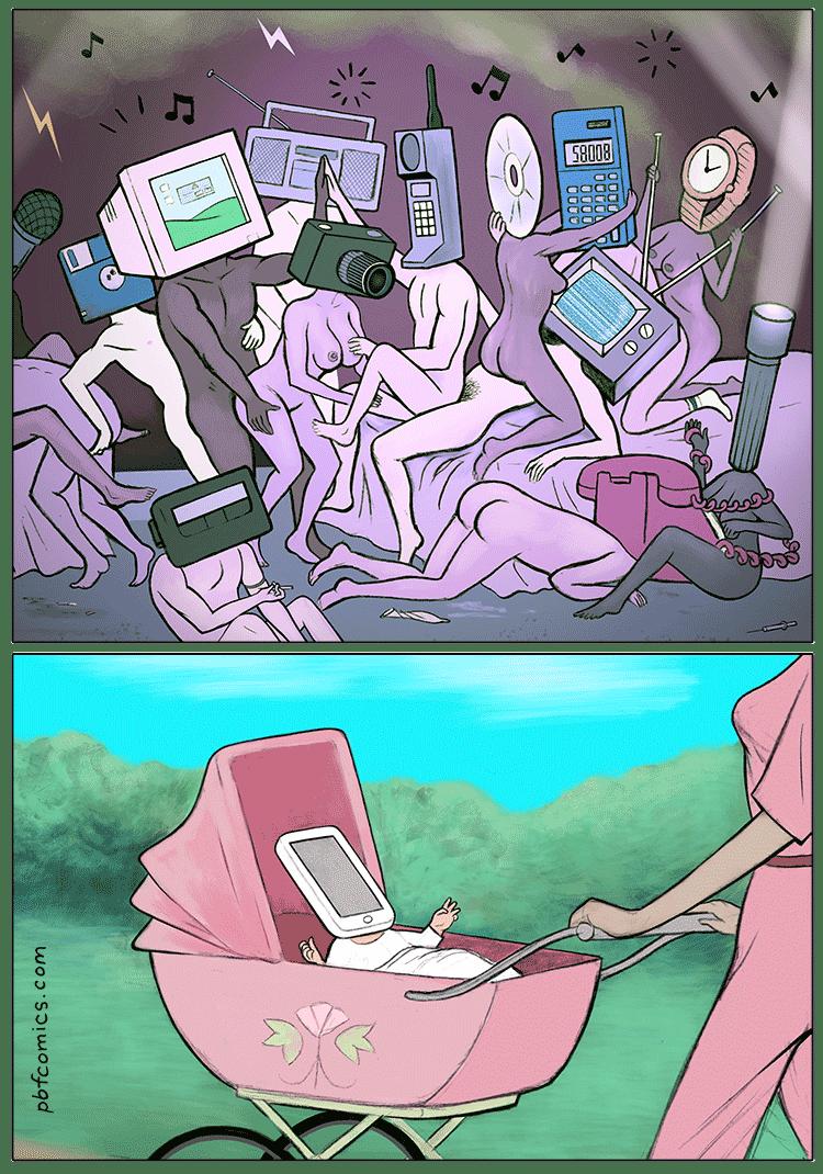 el nacimiento del celular moderno fue una orgia de aparatos en el pasado
