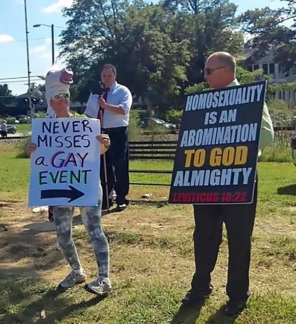 Protest - HOMOSENUALITY IS AN NEVER MISSES a GAY EVENT ABOMINATION TO GOD ALMIGHTY