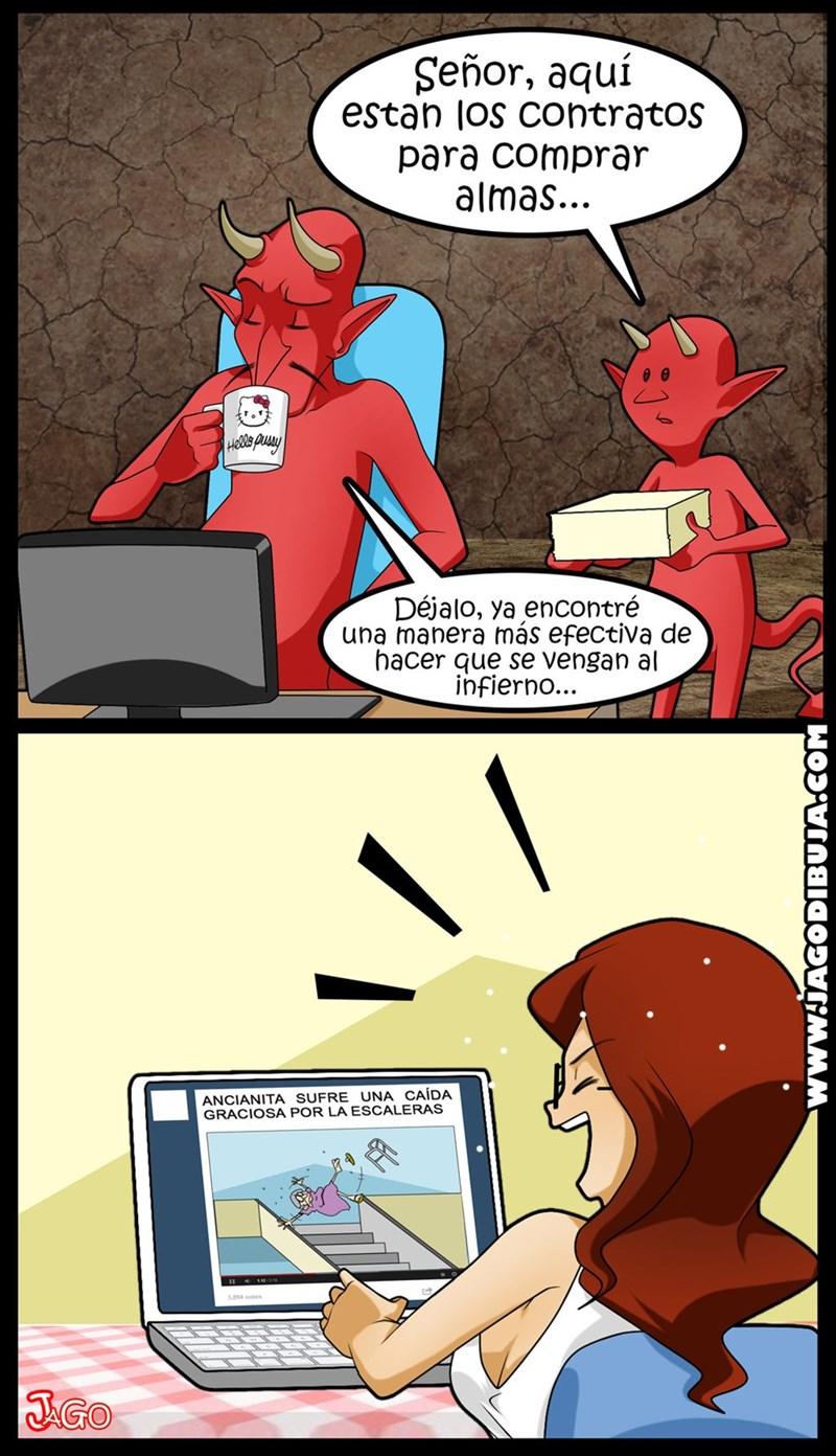 el diablo encuentra una forma mas efectiva de reclutar almas