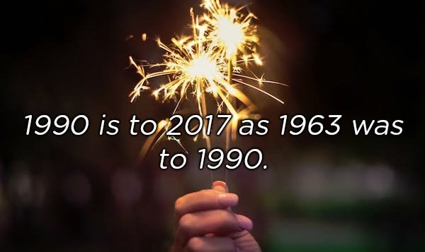 Sparkler - 1990 is tor2017 as 1963 was to 1990.