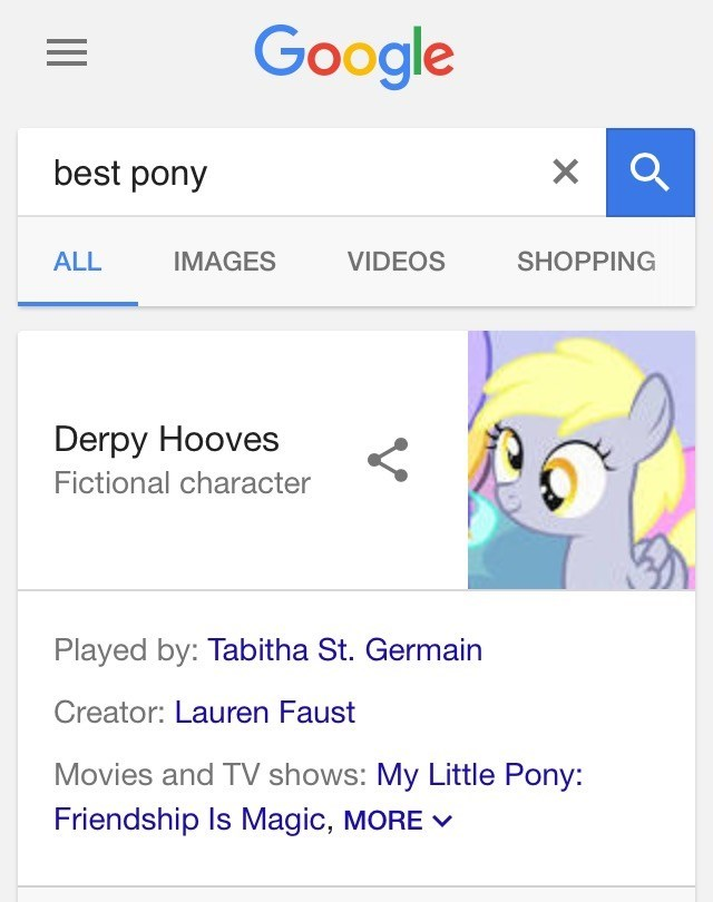 derpy hooves best pony google opinions - 9082735104