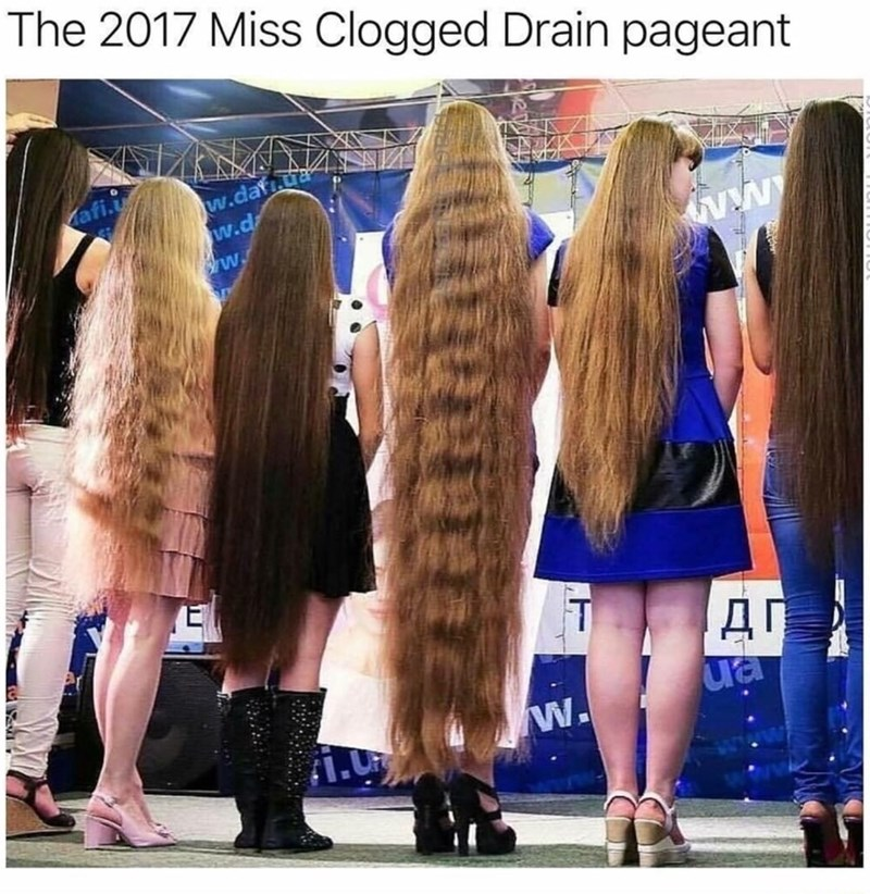 Funny meme about having long hair