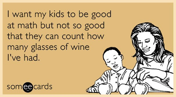 very funny ecard about counting kids