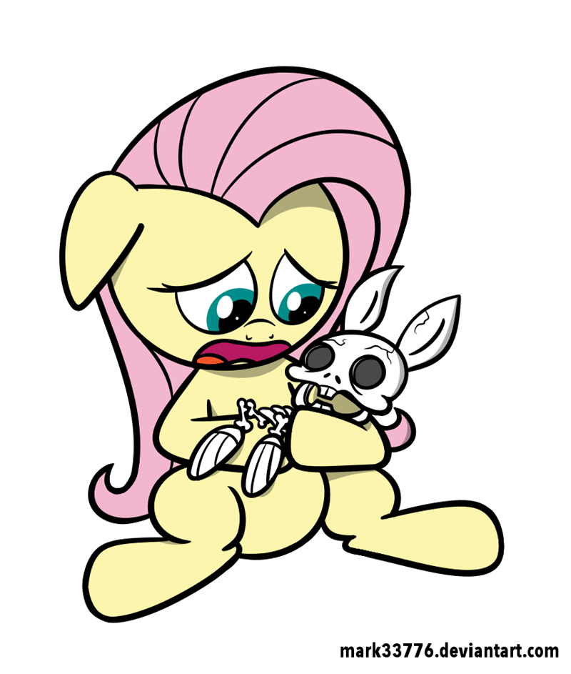angel mark33776 spooky scary skeletons fluttershy - 9083201536