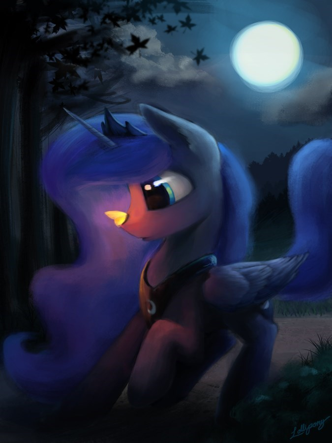 princess luna moth lollipony brony - 9083205120