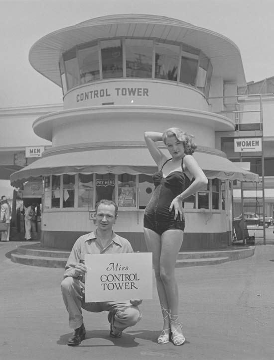 Photograph - CONTROL TOWER WOMEN MEN PAY HERE CA Miss CONTROL TOWER