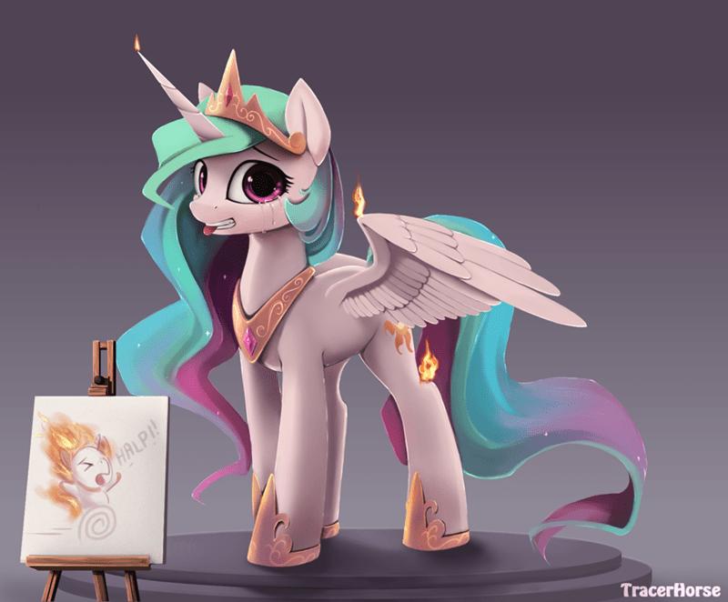 tracer horse princess celestia - 9083367168