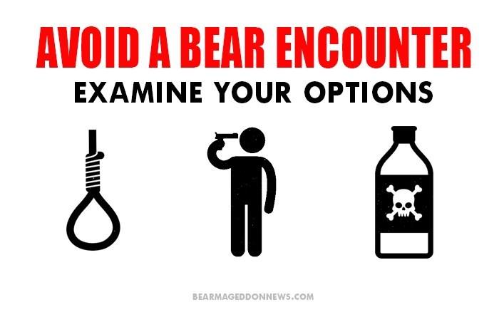 Bottle - AVOID A BEAR ENCOUNTER EXAMINE YOUR OPTIONS BEARMAGEDDONNEWS.COM