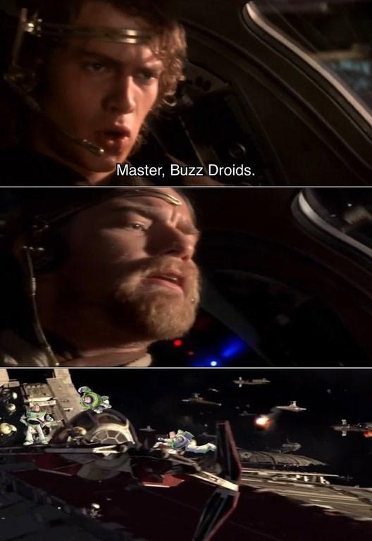 Buzz droids star wars meme