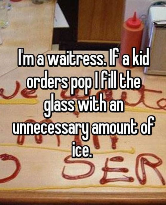 Font - Imawaitress Fa kid Orders pop ilthe glass with an unnecessary amount of ice, SER