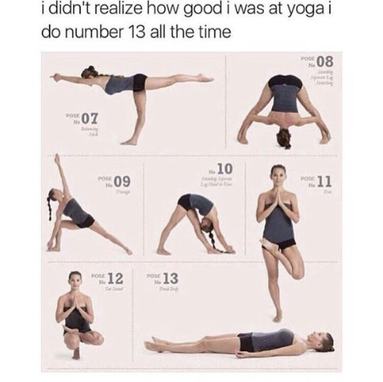 Funny yoga meme
