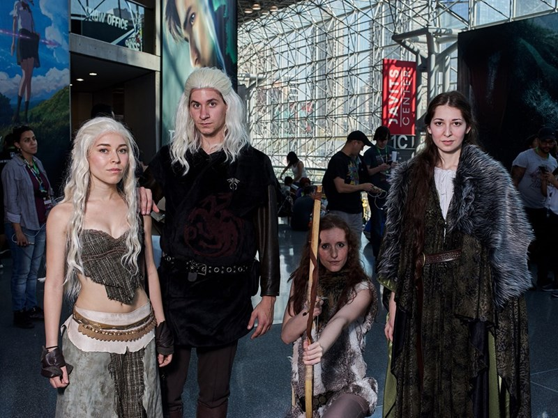 Game of Thrones cosplayers at New York Comic Con 2017