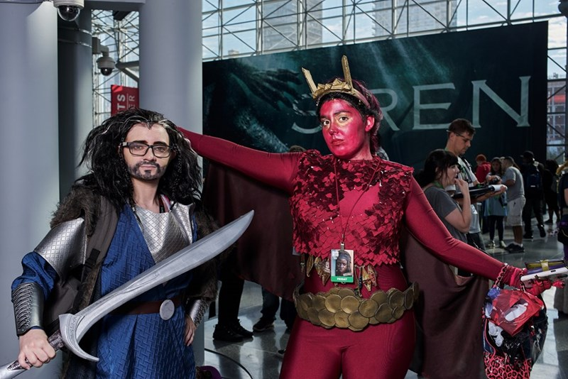 cosplayers at New York Comic Con 2017