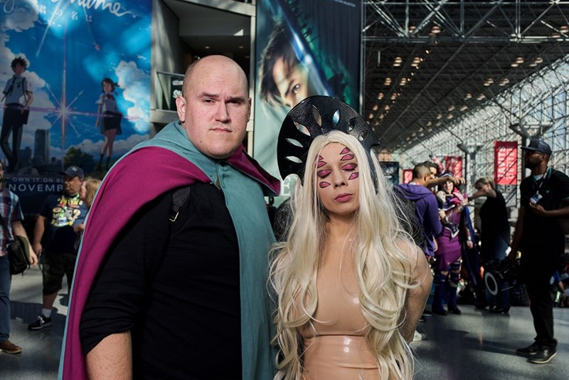 New York Comic Con 2017 cosplayers having fun