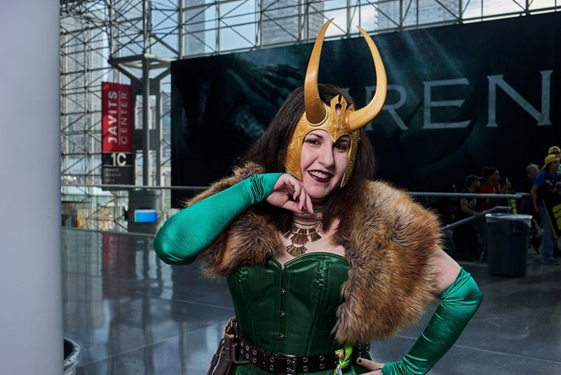 woman as cosplayer at New York Comic Con 2017