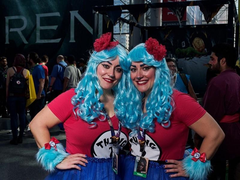 Blue hair at New York Comic Con 2017