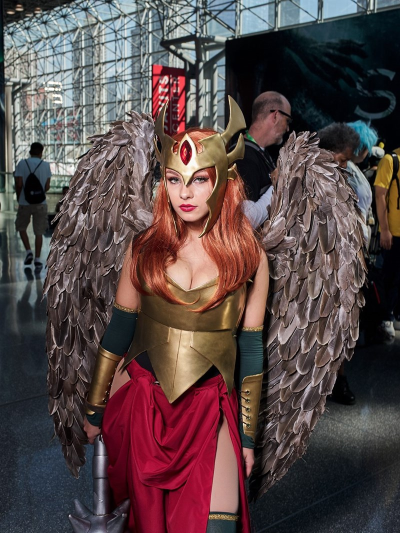Red haired woman cosplaying at New York Comic Con 2017