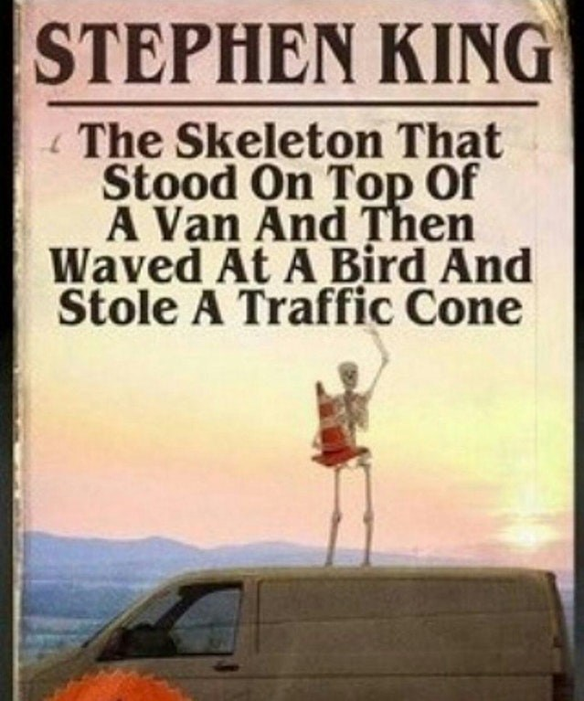 Funny meme about a fake Stephen King book.