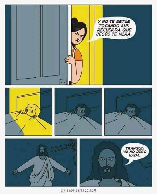 no te vas a tocar que jesus te esta viendo