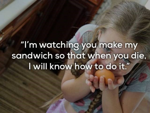 "Hair - ""I'm watching you make my sandwich so that when you die, Iwill know how to do it."""