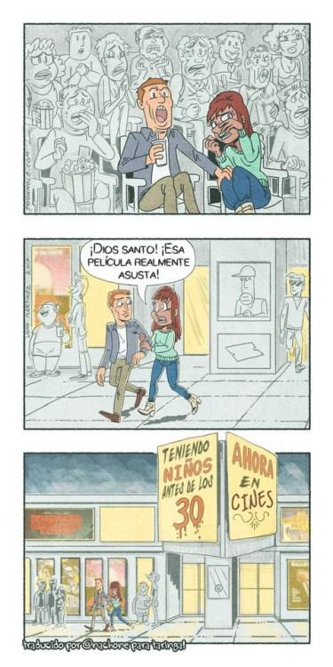 comic sobre tener hijos antes de los 30
