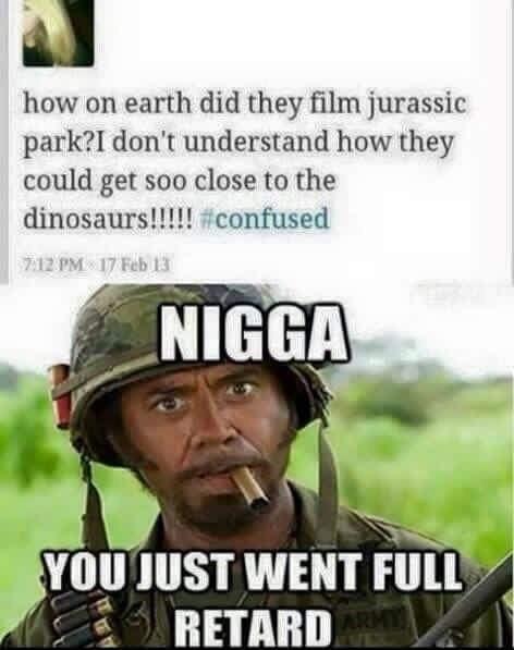 Jurassic park twitter fail of going full retard