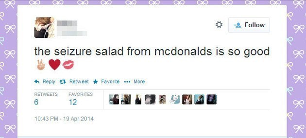 Tweet fail about Mcdonald's Seizure Salad