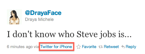 iphone user tweets about not knowing who steve jobs was