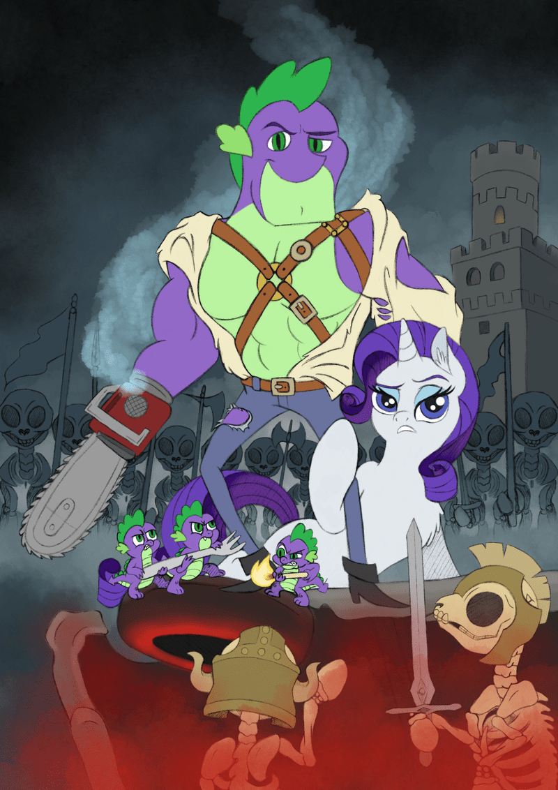 army of darkness ponify rarity spike spooky scary skeletons fuzz bird - 9085082880