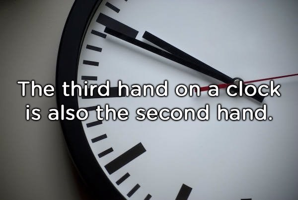 shower thought about hands of a clock