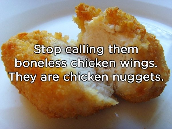 shower thought about chicke nuggets