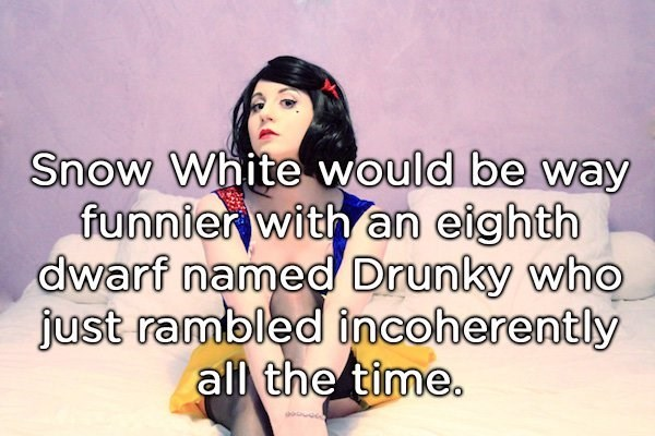 shower thought about adding an eighth drunk dwarf to Snow White