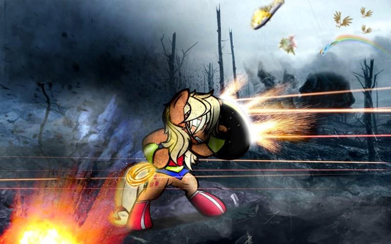 applejack wonder woman griffon ponify dan232323 rainbow dash - 9085441024