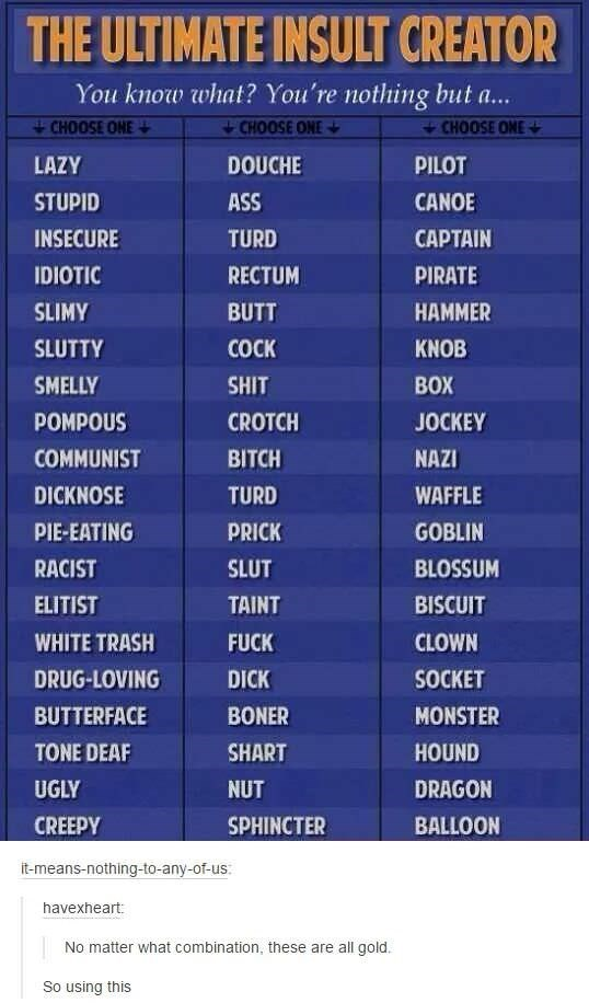 The Ultimate insult Creator graphic