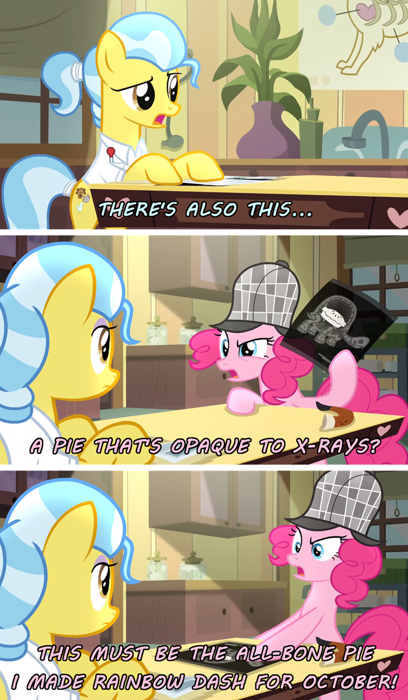 comic screencap pinkie pie tank doctor fauna secrets and pies - 9085575424