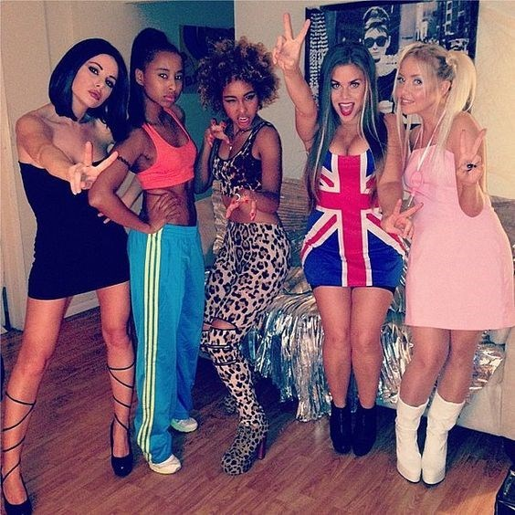 women dressed as the spice girls for halloween