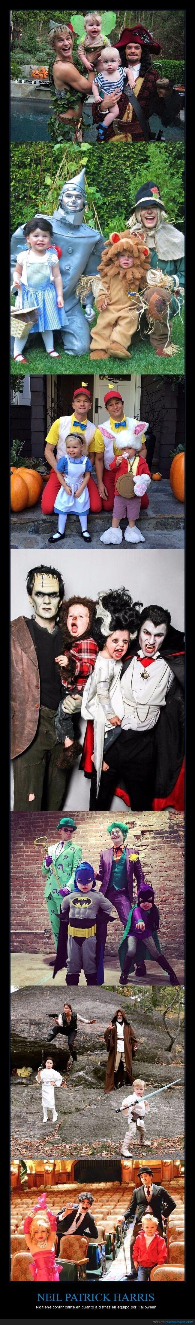 el disfraz anual de Neil Patrick Harris con toda su familia