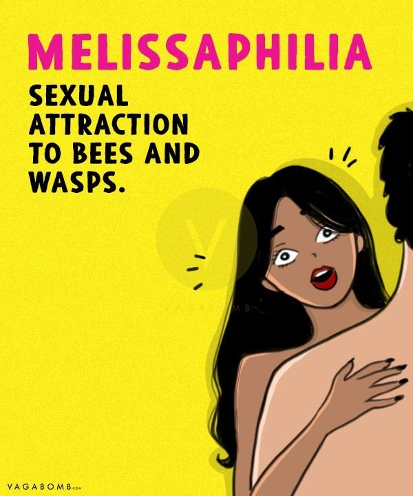 Cartoon - MELISSAPHILIA SEXUAL ATTRACTION TO BEES AND WASPS VAGABOMB.co